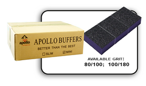 Mini Buffer 2 Way - Purple/Black - 100/180 Grit (Case/1,500 pcs)