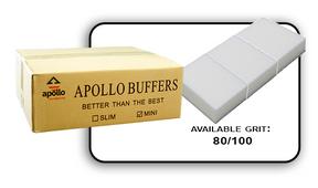 Mini Buffer 2 Way - White/White - 80/100 Grit (Case/1,500 pcs)