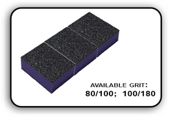 Mini Buffer 2 Way - Purple/Black - 80/100 Grit (Pack/30 pcs)