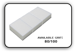 Mini Buffer 2 Way - White/White - 80/100 Grit (Pack/30 pcs)