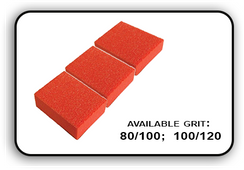 Mini Buffer 2 Way - Orange/White - 80/100 Grit (Pack/30 pcs)