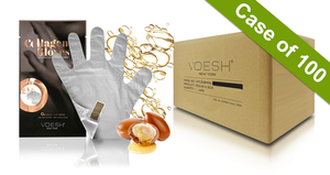 Voesh Case/100 pairs - Collagen Gloves with Argan Oil + Aloe Extract (VHM212COL)