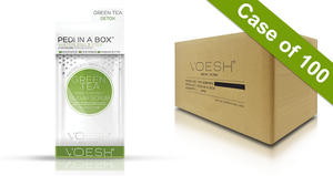 Voesh Case/100pks - Pedi in a Box - 3 Step Waterless - Green Tea (VPC107GRT)