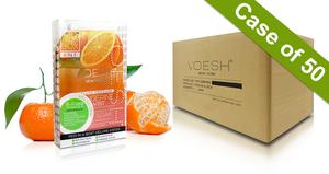 Voesh Case/50pks - Pedi in a Box - 4 Step Deluxe - Tangerine Twist (VPC208TGN)