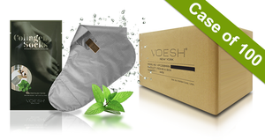 Voesh Case/100 pairs - Collagen Socks with Herb Extract (VFM212PEP)