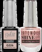 Gel II + Matching Extended Shine Polish - G226 & ES226 - COCONUT SHIMMER