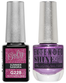 Gel II + Matching Extended Shine Polish - G228 & ES228 - SUMMER SANGRIA
