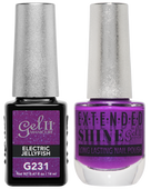 Gel II + Matching Extended Shine Polish - G231 & ES231 - ELECTRIC JELLYFISH