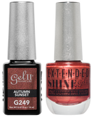 Gel II + Matching Extended Shine Polish - G249 & ES249 - AUTUMN SUNSET