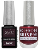 Gel II + Matching Extended Shine Polish - G250 & ES250 - BLACK CHERRY