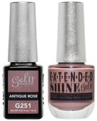Gel II + Matching Extended Shine Polish - G251 & ES251 - ANTIQUE ROSE