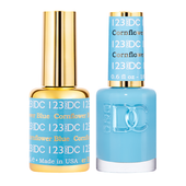 DND DC Duo Gel - #123  CORNFLOWER BLUE