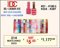 DND DC - Buy 214 Matching Duo #001-#180 (BO #57,66) & #254-#289 - GET FREE 1 SAMPLE TIP SET
