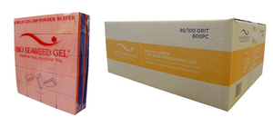 Bio Seaweed Gel - DMA Disposable Mini Buffer - Orange Purple 80/100 Grit - Case/800pc