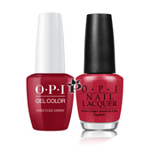 OPI Duo - GCH02A + NLH02 - CHICK FLICK CHERRY .5 oz