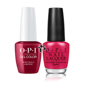 OPI Duo - GCH08A + NLH08 - I'M NOT REALLY A WAITRESS .5 oz