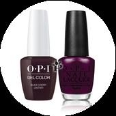OPI Duo - GCI43A + NLI43 - BLACK CHERRY CHUTNEY .5 oz