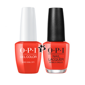 OPI Duo - GCL22 + NLL22 - A RED-VIVAL CITY - Lisbon Collection .5 oz