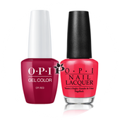 OPI Duo - GCL72A + NLL72 - OPI RED .5 oz