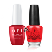 OPI Duo - GCN25A + NLN25 - BIG APPLE RED .5 oz