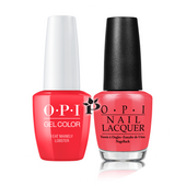 OPI Duo - GCT30A + NLT30 - I EAT MAINELY LOBSTER .5 oz
