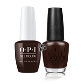 OPI Duo - GCW61A + NLW61 - SHH IT'S TOP SECRET! .5 oz