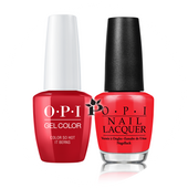 OPI Duo - GCZ13A + NLZ13 - SO HOT IT BERNS .5 oz