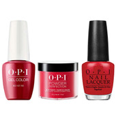OPI COMBO 3 in 1 Matching - GCA70A-NLA70-DPA70 Red Hot Rio