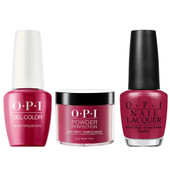 OPI COMBO 3 in 1 Matching - GCW63A-NLW63-DPW63 OPI By Popular Vote