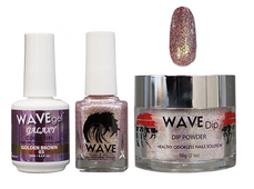 WAVE GALAXY 3 in 1 - COMBO SET (GEL+ LACQUER+ POWDER) - #3 Golden Brown