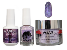 WAVE GALAXY 3 in 1 - COMBO SET (GEL+ LACQUER+ POWDER) - #5 Purple Paragon