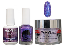 WAVE GALAXY 3 in 1 - COMBO SET (GEL+ LACQUER+ POWDER) - #7 Midnight Blue