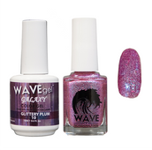 WAVE GALAXY 3 in 1 - DUO ONLY (GEL+ LACQUER) - #10 Glittery Plum