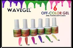 WAVEGEL Off-Color Gel - Complete Set - 6 Colors (#01-#06)