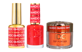 DND DC 3in1 Matching(GEL+LACQUER+DIP) - #064  VALENTINE RED