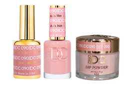 DND DC 3in1 Matching(GEL+LACQUER+DIP) - #090  ASH ROSE