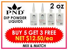 PND Dip Liquid Refill 2 oz - BUY 5 GET 3 FREE (Mix & Match)