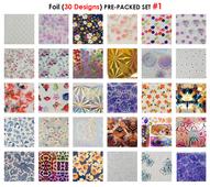 WaveGel Foil - 30 Pre-Packed Foil Designs #1  - GET 1 FREE BLINK GEL
