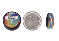 WaveGel Chrome Metal Powder 1g - #07 Hologram Chrome