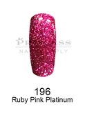 DND DC Platinum Gel - 196 Ruby Pink Platinum .6 oz