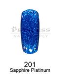 DND DC Platinum Gel - 201 Sapphire Platinum .6 oz