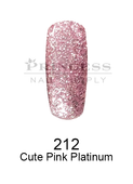DND DC Platinum Gel - 212 Cute Pink Platinum .6 oz