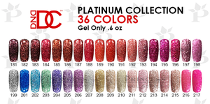 DND DC Platinum Gel .6 oz - Set - 26 Colors (#181 - #217. out stock 10 colors) - FREE SAMPLE TIP