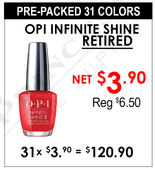 OPI Retired Infinite Shine - Pre-Packed 31 Colors (Clearance - No Return)