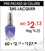 SNS Lacquer - Pre-Packed 60 Colors (Clearance - No Return)