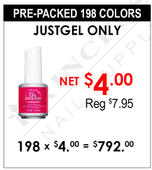 JustGel Only - Pre-Packed 198 Colors (Clearance - No Return)