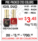 iGel Duo - Pre-Packed 203 Colors(Clearance - No Return)