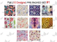 WaveGel Foil - 10 Pre-Packed Foil Designs #1  - GET 1 FREE BLINK GEL