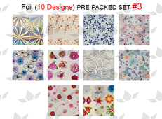 WaveGel Foil - 10 Pre-Packed Foil Designs #3  - GET 1 FREE BLINK GEL