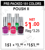 Polish II - Pre-Packed 151 Colors (Clearance - No Return)